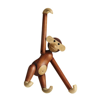 Teak Monkey Wooden Figurine - Small