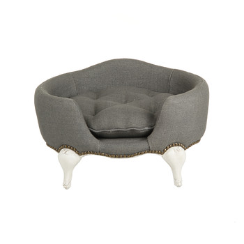 Antoinette Stonewash Heavy Burlap Grey Pet Sofa