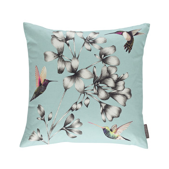 Amazilia Floral Cushion - 43x43cm - Sky