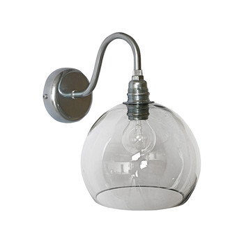 Rowan Wall Lamp - 15cm - Smokey Grey