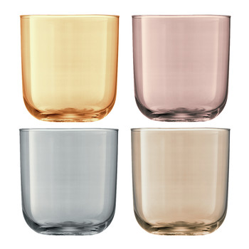 Polka Assorted Tumblers - Set of 4 - Metallic