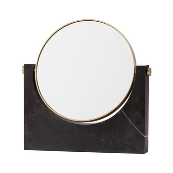 Pepe Marble Mirror - Brass/Black
