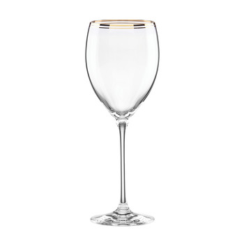 Orleans Square Gold Wine Glass