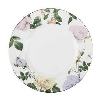 Rosie Lee Dinner Plate - White