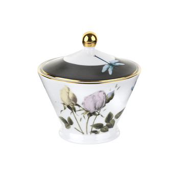 Rosie Lee Covered Sugar Bowl - White