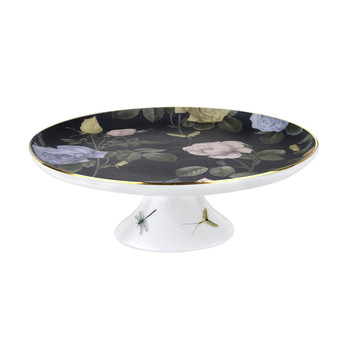Rosie Lee Footed Cake Stand - Black