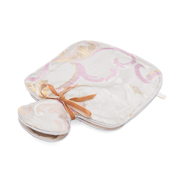 Hot Water Bottle - Silver Brocade