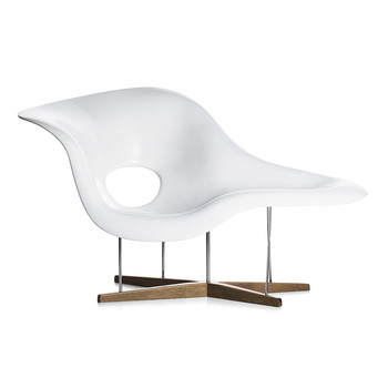 Eames La Chaise - White Shell