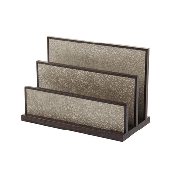Letter Rack - Wenge and Smoke Shagreen