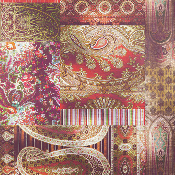 Lomond Wallpaper - FG082.V54.0 Red / Plum