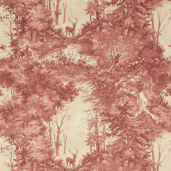 Torridon Wallpaper - FG076.V92.0 Red / Sand