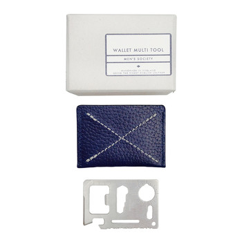 Leather Credit Card Multitool - Blue