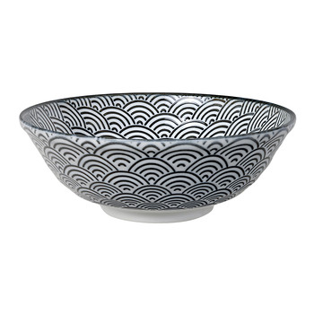 Nippon Black Serving Bowl - Wave