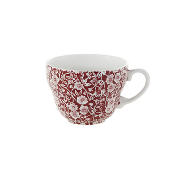 Red Calico Breakfast Cup