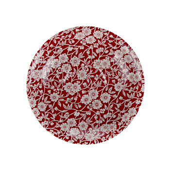 Red Calico Breakfast Saucer