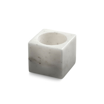 Marble Tealight Holder - White