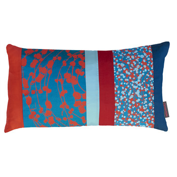 Spiral Patchwork Pillow - 30x50cm - Kingfisher/Tiger Lily