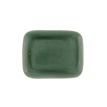 Maguelone Rectangular Plate - Large - Emerald