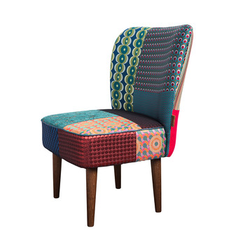 Patchwork Jacquard Chair - Green