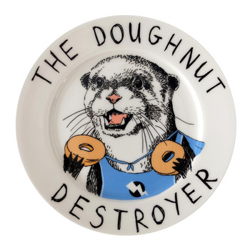 'Doughnut Destroyer' Side Plate