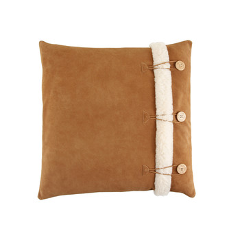 """Bailey Button Cushion Cover 20"""" - Chestnut/Natural"""