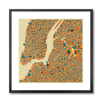 Affiche New York Map