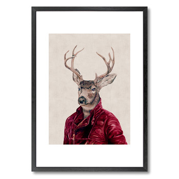 Deer in Leather Print