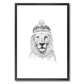 Winter is coming (White Hat) Print