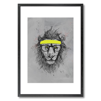 Hipster Lion Print