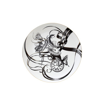 Gold Perfect Plates - Swirly Bling Bunny