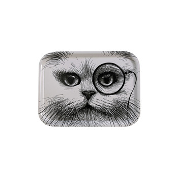 Small Tray - White Cat with Monocle