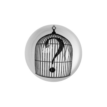 Domed Paperweight - Birdcage