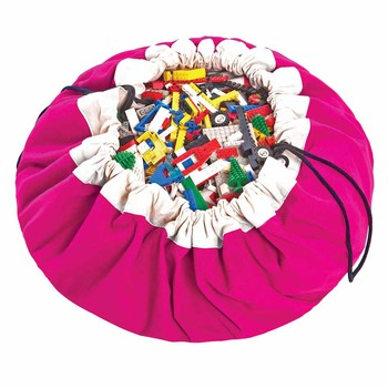 2in1 Toy Storage and Play Mat - Classic - Fuchsia