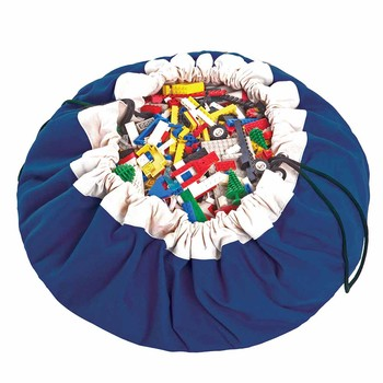 2in1 Toy Storage and Play Mat - Classic - Blue