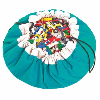 2in1 Toy Storage and Play Mat - Classic - Turquoise