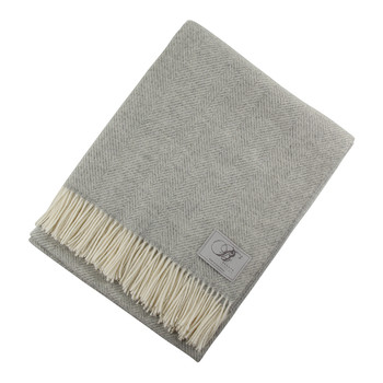 Herringbone Throw - Grey