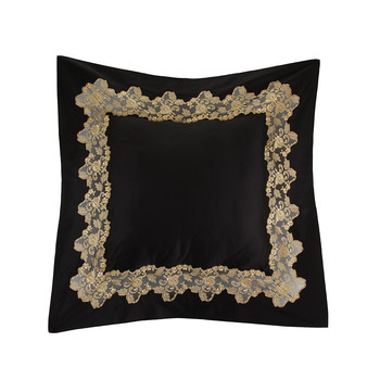 Icona Bed Pillow - 50x50cm - Black and Sand