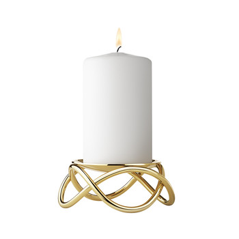 Glow Candle Holder - Gold Plated
