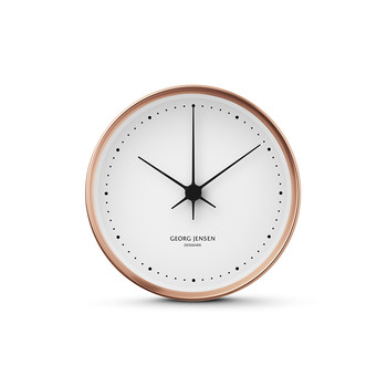 Henning Koppel Clock - Copper/White