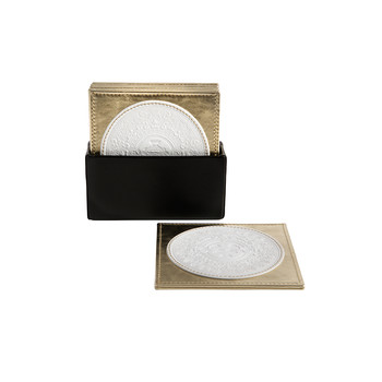Leather Coasters - White