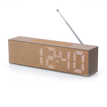 Titanium LED Clock Radio - Soft Gold