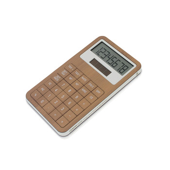 Safe Dual Power Calculator - Bamboo/White