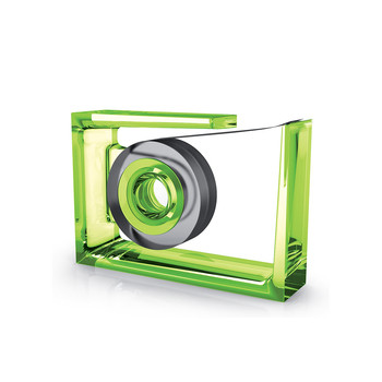 Roll Air Tape Dispenser - Green