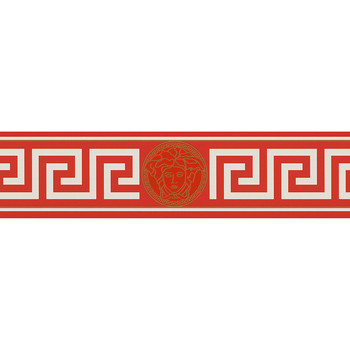 Greek Wallpaper - Red/White - 935122-1B
