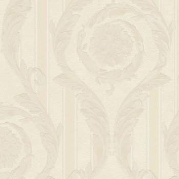 Barocco & Stripes Wallpaper - Cream - 95368-2