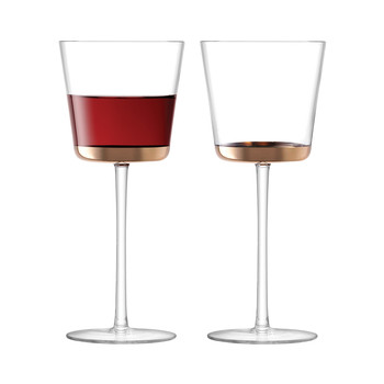Edge Red Wine Glass - Rose Gold - Set of 2