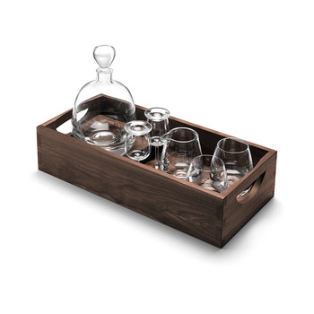 Whiskey Islay Connoisseur Set & Walnut Tray