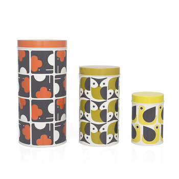 Canister Set of 3 - Owl, Elephant and Hen
