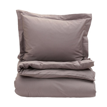 Solid Sateen Duvet Cover - Mole Grey
