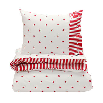 Stars and Stripes Duvet Cover - Bright Red